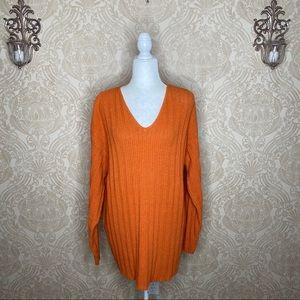 A Knitch Above V-Neck Long Sleeve Sweater